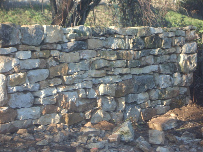 starting on the stone walling